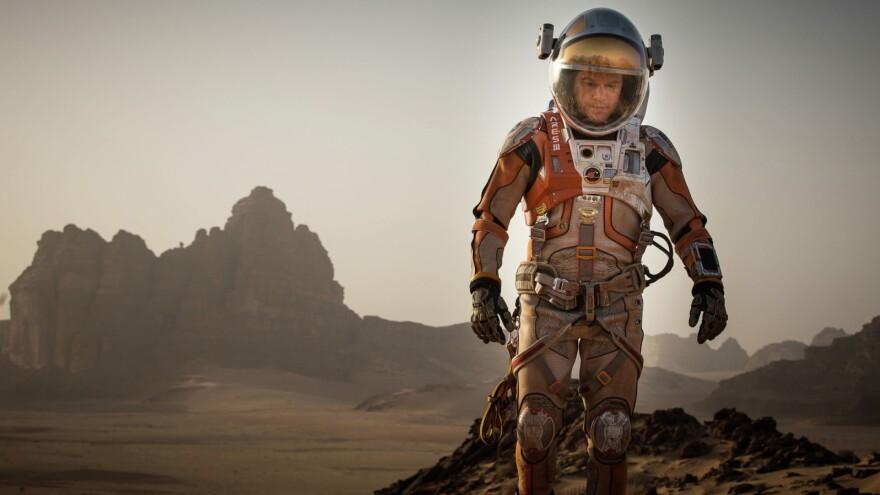 Matt Damon plays an astronaut accidentally abandoned on Mars in Ridley Scott and Drew Goddard's <em>The Martian</em>.