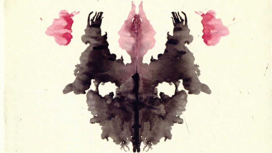 An early draft of Card III in Hermann Rorschach's psychological test.