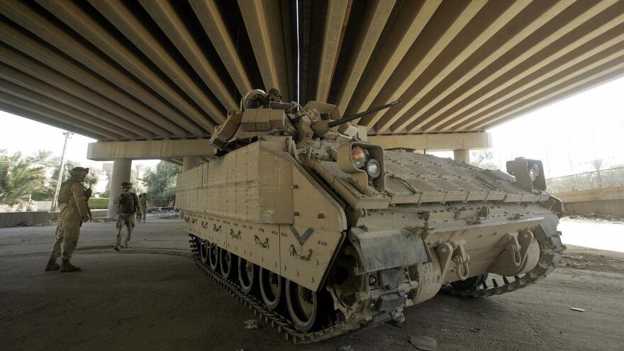 A Bradley Fighting Vehicle was involved in the training accident that killed three soldiers at Fort Stewart, in Georgia, on Sunday. Above, a Bradley is stationed to support a patrol mission by U.S.-Iraqi forces in Baghdad.