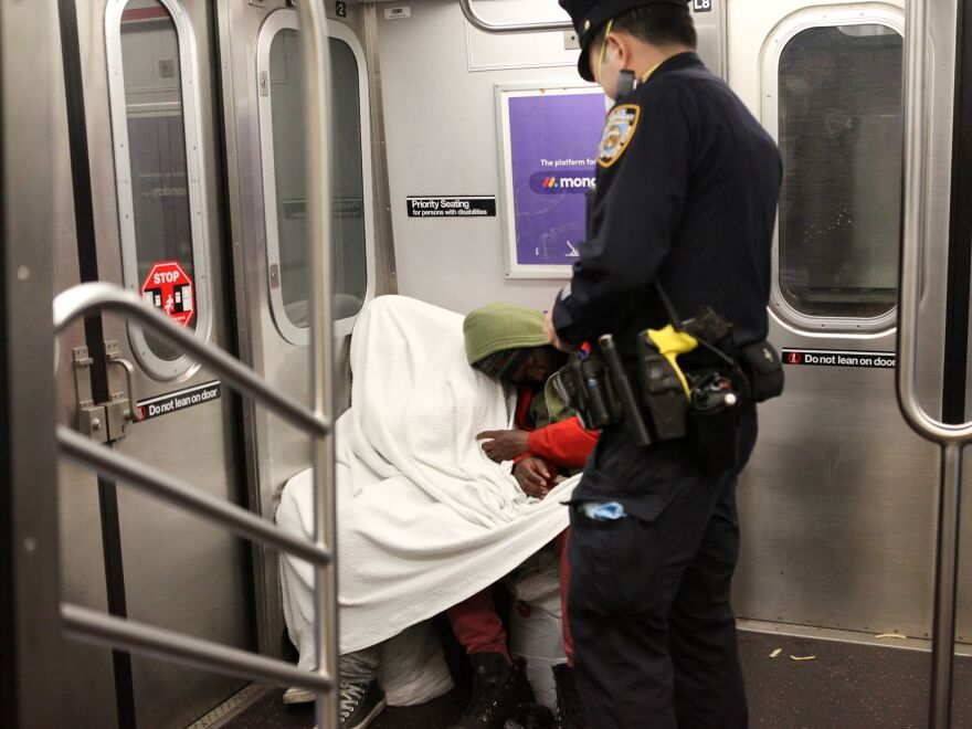 On a New York City subway car, one couple refused to get off the train for several minutes. The train's conductor said he sees this couple every night on the trains.