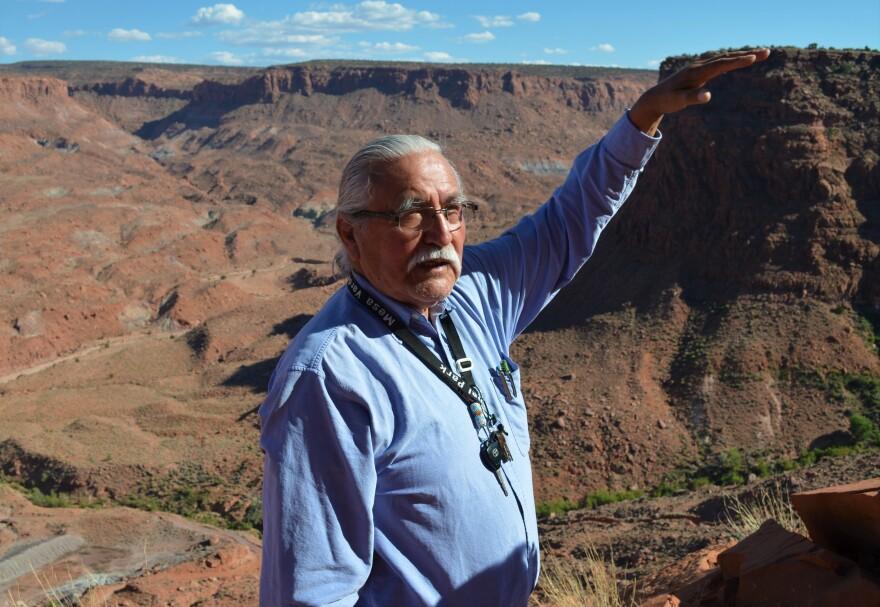 Photo of Grayeyes at canyon.