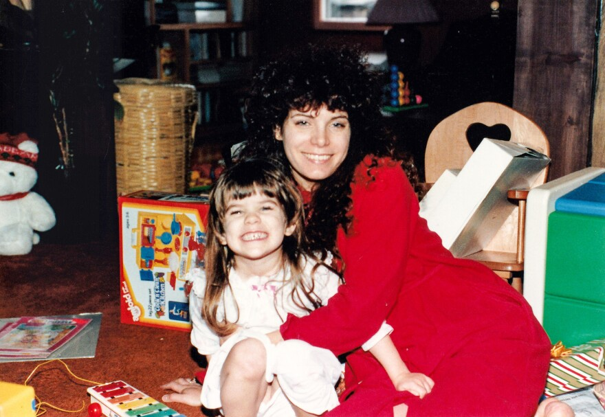 The author at age 3 with her mother Brenda, in 1986.