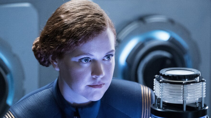"""�Into the Forest I Go"""" — Episode 109 — Pictured: Mary Wiseman as Cadet Sylvia Tilly of the CBS All Access series STAR TREK: DISCOVERY. Photo Cr: Michael Gibson/CBS � 2017 CBS Interactive. All Rights Reserved."""
