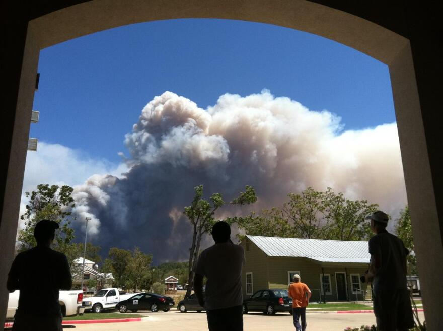A view from the staging area in Bastrop on September 5, 2011.