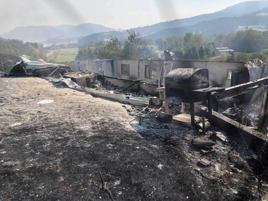 The Lapinsky homestead just off Bridger Canyon Drive near Bozeman, MT was one of 28 homes claimed by the Bridger Foothills Fire Sept. 05, 2020.