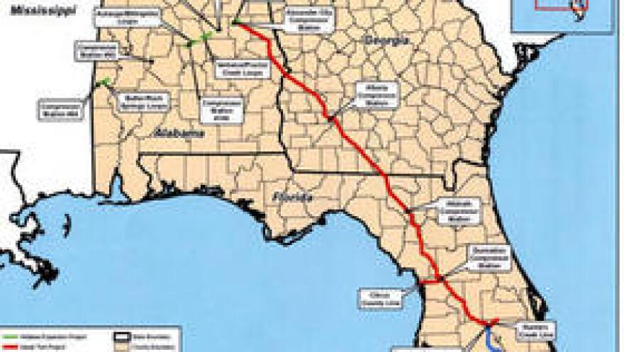 The Sabal Trail pipeline project would deliver natural gas across more than 700 miles of Alabama, Florida and Georgia. Sierra Club attorneys are asking a federal appeals court to block it.