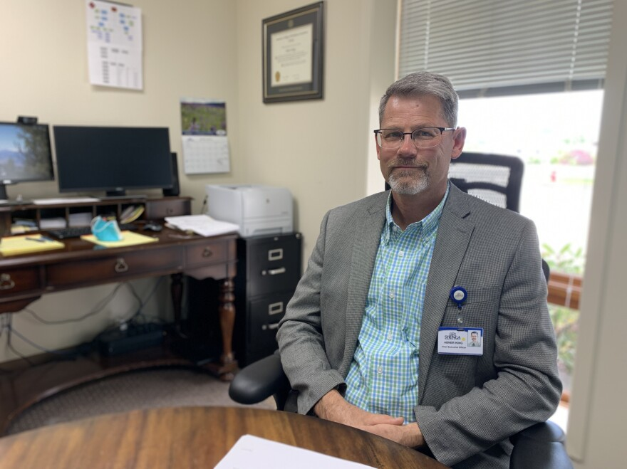 Syringa Hospital's CEO, Abner King, says his staff is ready for a possible surge in COVID-19 patients, as long as larger regional hospitals aren't overwhelmed.