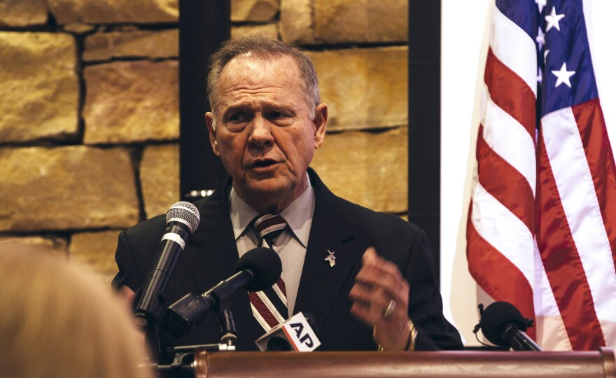 Roy Moore, the Alabama Republican candidate for U.S. Senate, has been accused of previous sexual misconduct with teenagers, which he has denied.