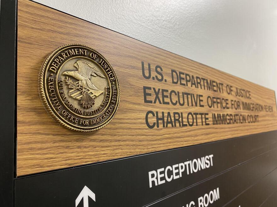 Charlotte Immigration Court plaque