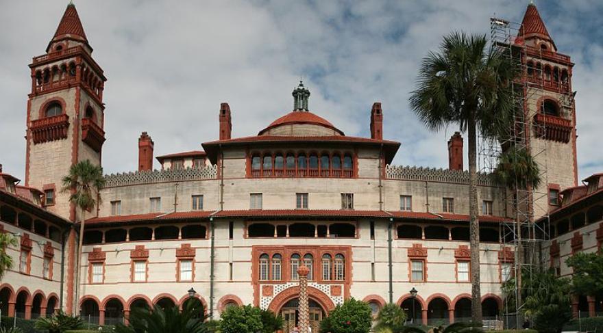 Flagler College's Ponce De Leon Hall.
