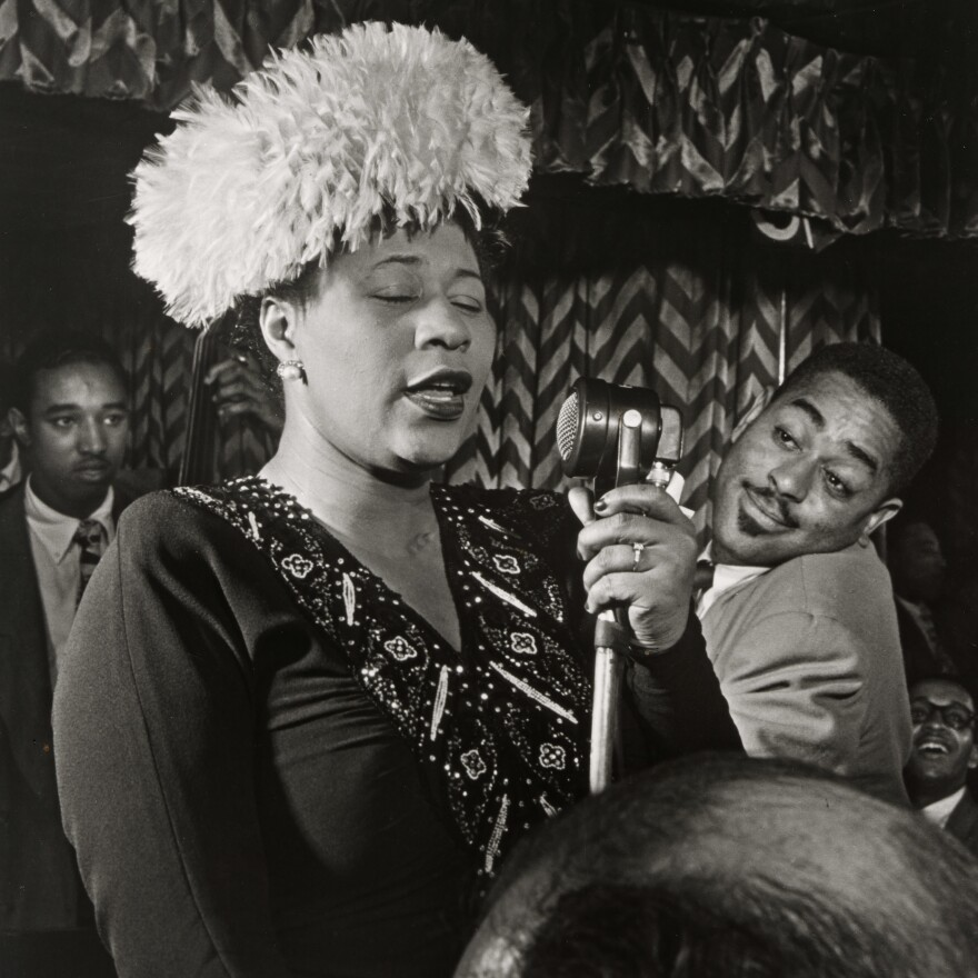 Ella Fitzgerald, Dizzy Gillespie and Ray Brown (with Milt Jackson)