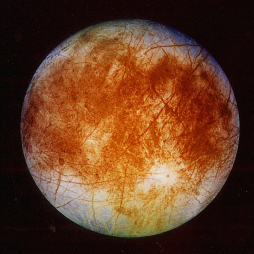 An image of Europa released by the Jet Propulsion Laboratory in Pasadena, Calif., in 1996 by the Galileo spacecraft. NASA says a new probe dedicated to studying the Jovian moon, is going into the development phase.