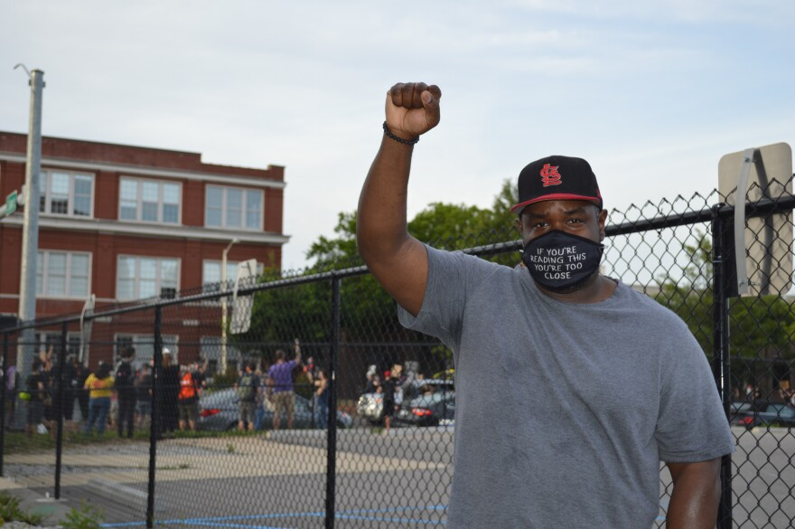 Anthony Doss attends a protest in the Grove to oppose police violence. Hundreds of St. Louisans attended the same protest. June 5, 2020