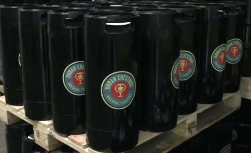 Beer storage at the Urban Chestnut Grove Brewery and Bierhall in St. Louis.