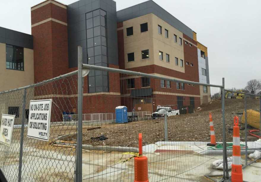 photo of Stark State building nearing completion