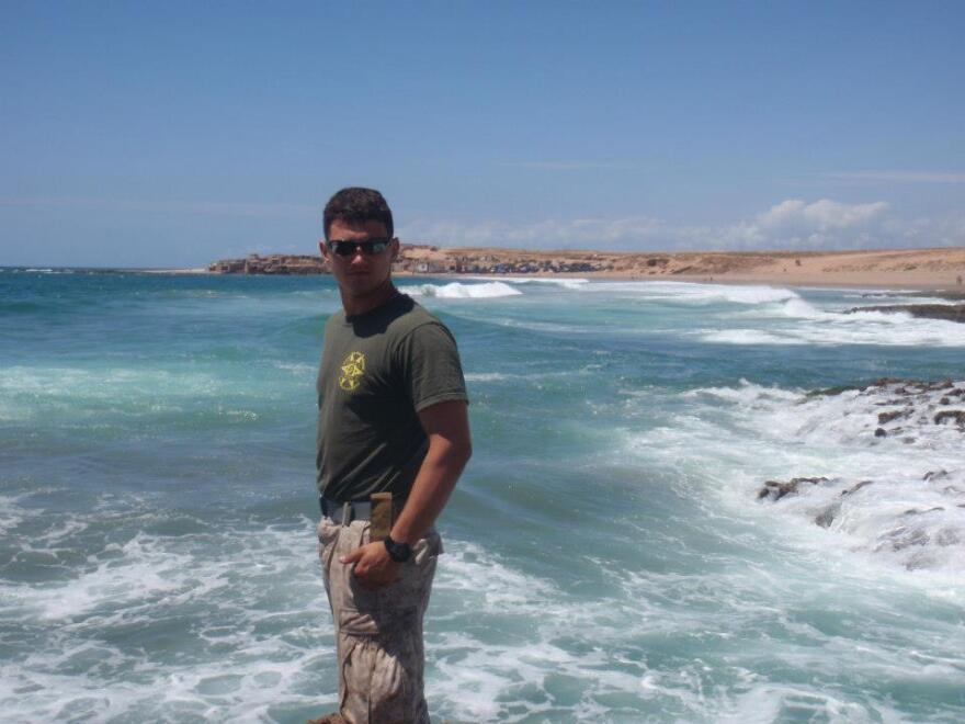 Tim Maynard served in the Marines for eight years with tours in both Iraq and Afghanistan.