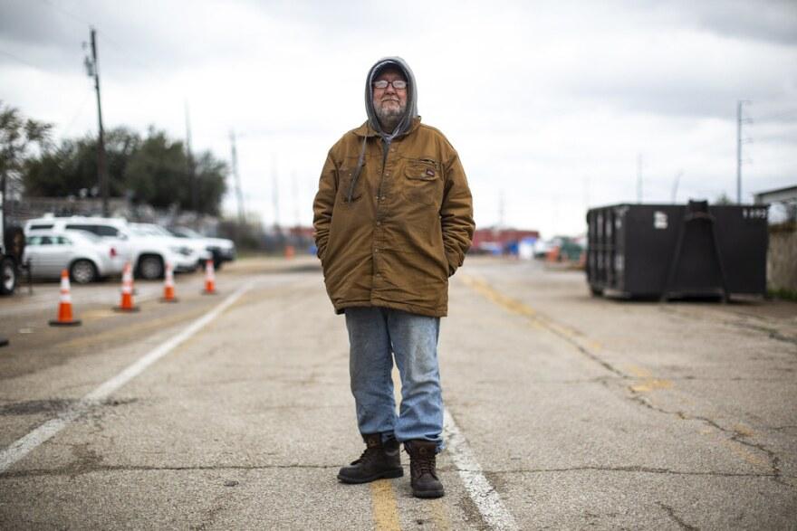 Robert Rhodes, a resident of the homeless camp near Montopolis