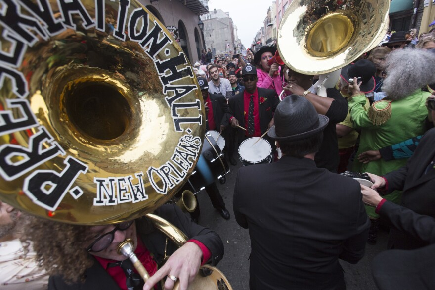 The Preservation Hall Jazz Band's sousaphone was stolen in February after a performance, but with the help of an anonymous tipster the instrument and band have been reunited.