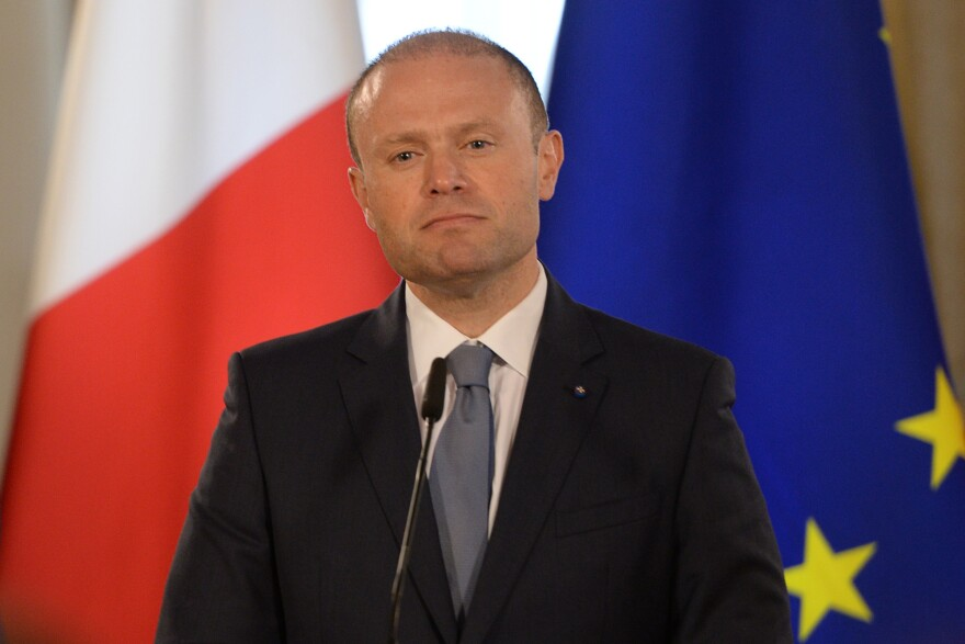 Malta Prime Minister Joseph Muscat gives a press conference on June 27, in Valletta.