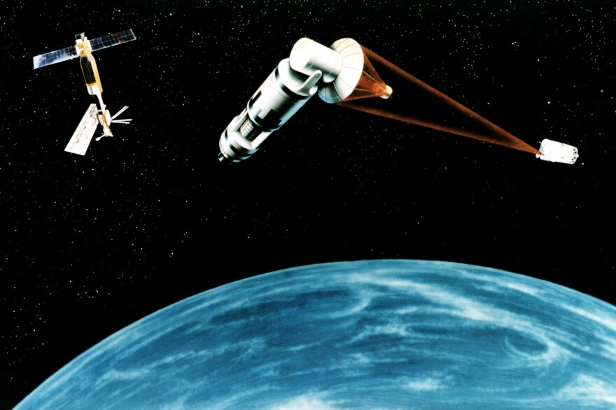 Reagan's Star Wars program envisioned space-based lasers hitting targets high above Earth. The lasers never made it off the drawing board.