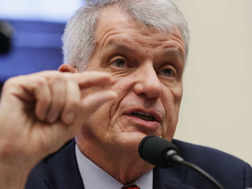 Wells Fargo CEO Timothy Sloan faced hours of questioning Tuesday from both Republicans and Democrats on the House Financial Services Committee.