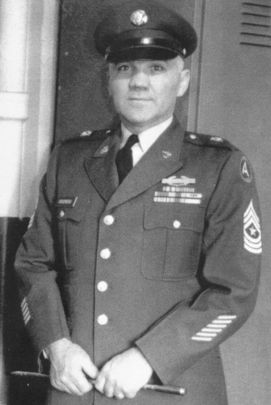 Herman Boudreau served in the U.S. Army in World War II, then rose to the rank of command sergeant major in the Maine Army National Guard.