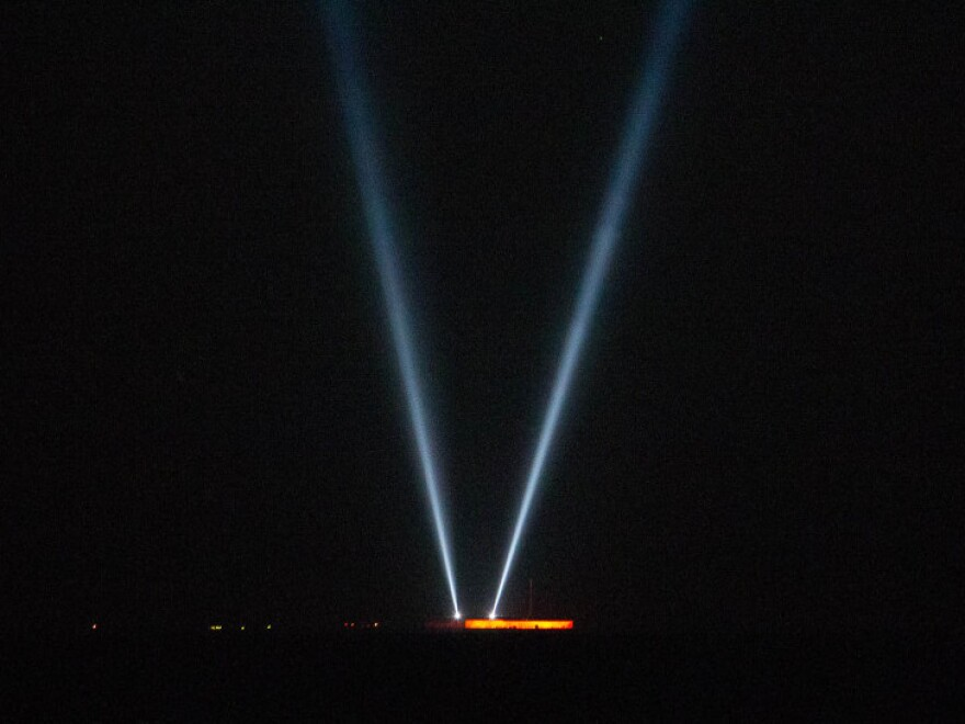 These lights were shining at Fort Sumter at 4:30 a.m. ET to commemorate the moment the first shots of the Civil War were fired.