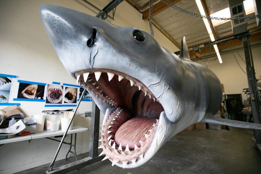 "The<em> Jaws</em> shark ""Bruce"" is ready for his closeup."