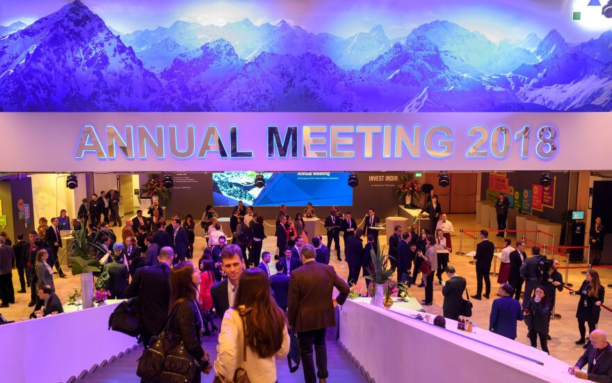 President Trump will arrive at the 2018 World Economic Forum in Davos, Switzerland, on Thursday morning.