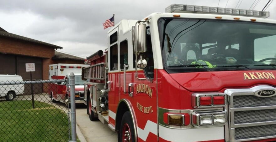 photo of equipment at an Akron fire station