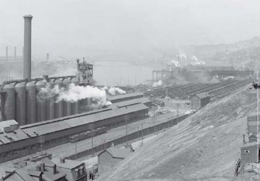 steel industry monongahela river 1910