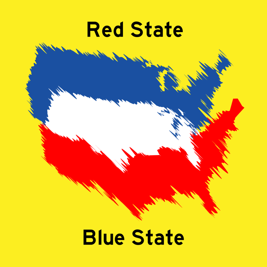 Red State Blue State logo