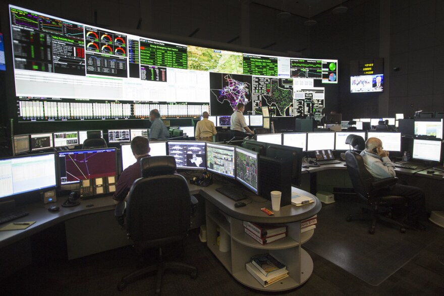 The control room at ERCOT headquarters