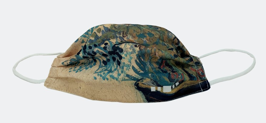Van Gogh inspired mask from The Barnes Foundation