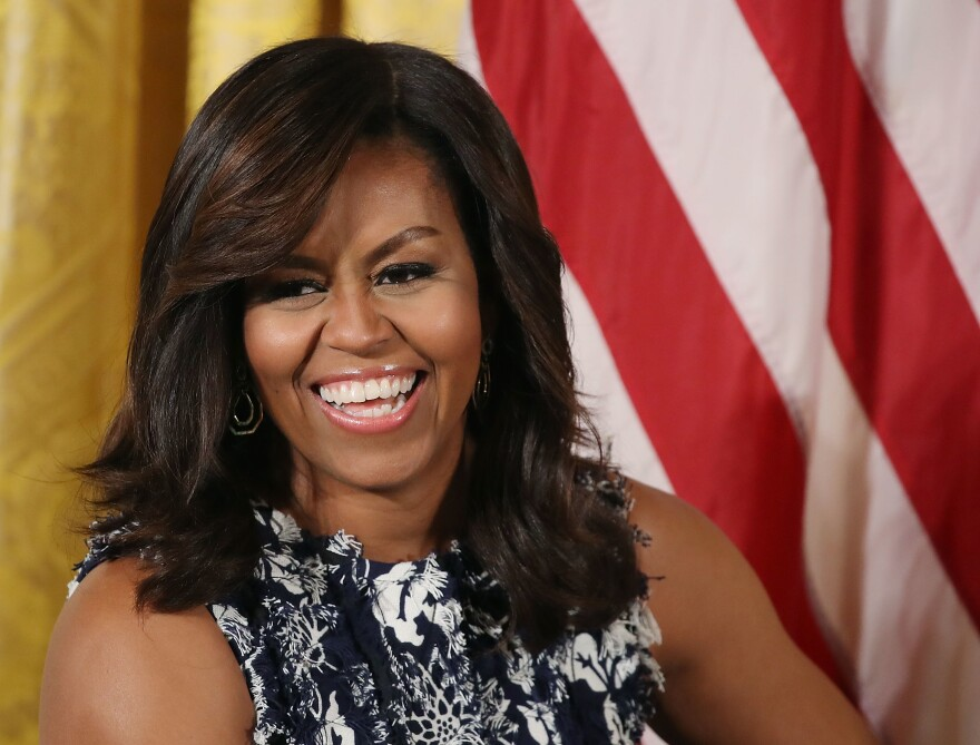 "First lady Michelle Obama hosts the third annual ""Beating the Odds"" summit with future college students at the White House on July 19 in Washington, D.C."