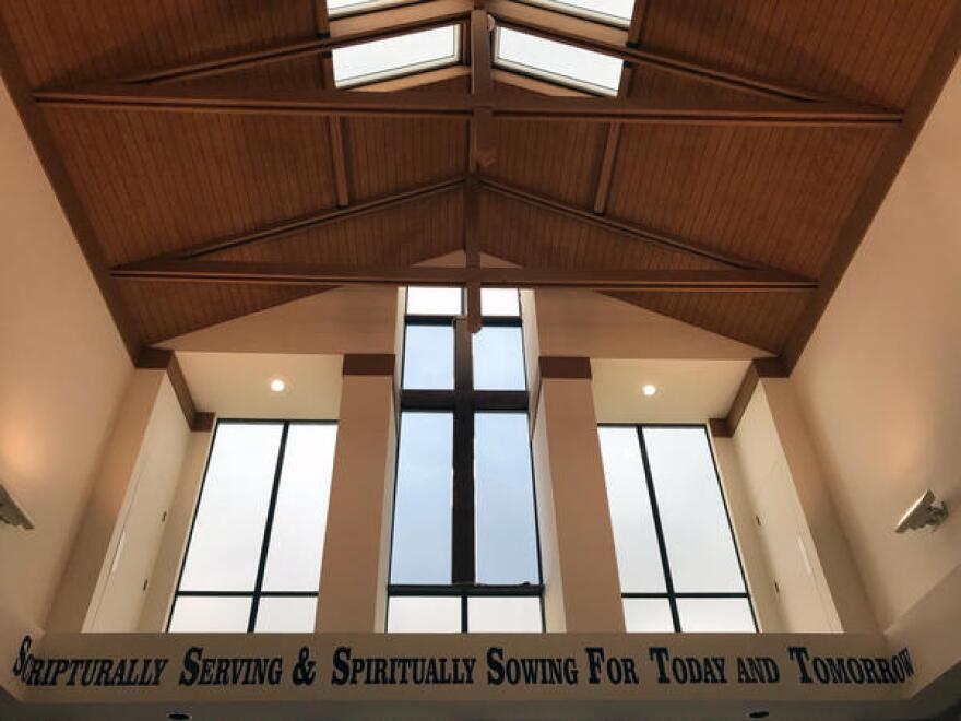 Inside the Dallas West Church of Christ, where Botham Jean attended.