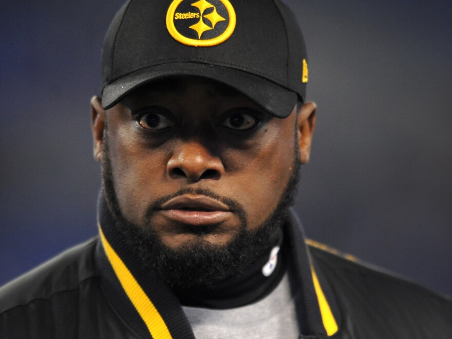 Pittsburgh Steelers coach Mike Tomlin during the Thanksgiving Day game with the Baltimore Ravens.