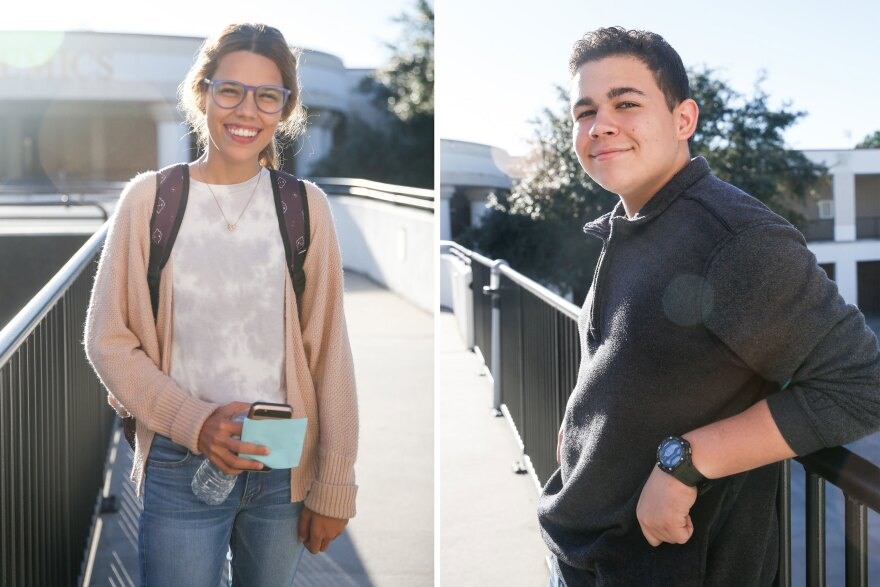 Zuleyka Avila (left) and Oxzuen Casta Rodriguez (right) are both students at Colonial High School who came from Puerto Rico after Hurricane Maria.