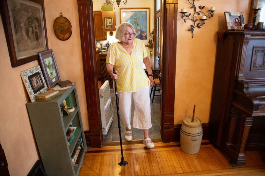 Barbara Woodward's bumpy ride was just the beginning of a difficult journey. She had shattered her femur and had trouble healing after an emergency surgery. In May, Woodward had a full hip replacement in Kansas City, Kan.