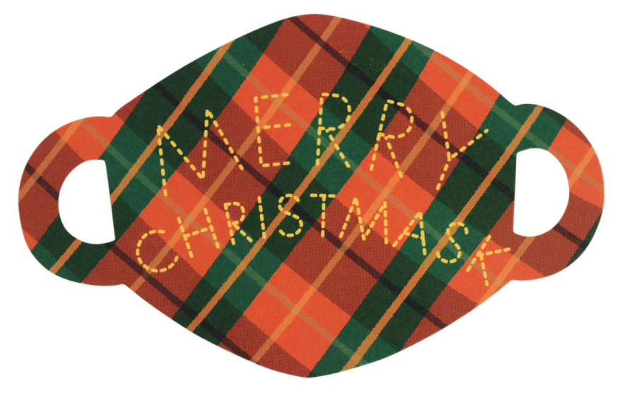 """""""Merry Christmask,"""" illustrated and designed by Mimi Kim"""