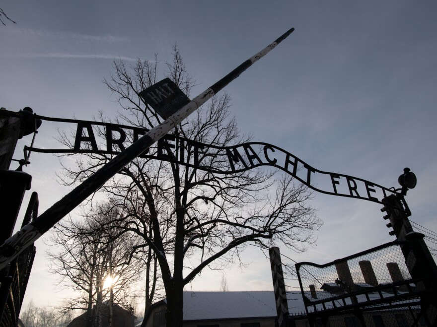 Holocaust survivors visited the former Auschwitz concentration camp on International Holocaust Remembrance Day.