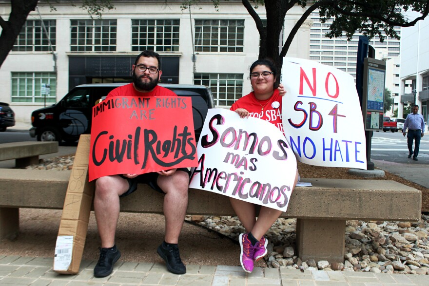 Rudy and Briana Moreno, uncle and niece, say they're disappointed Fort Worth hasn't joined a lawsuit to stop SB4.