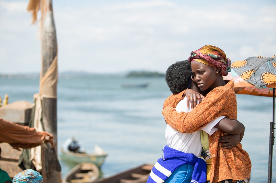 Madina Nalwanga and Lupita Nyong'o in <em>Queen of Katwe</em>, the true story of a young girl from the streets of rural Uganda whose world rapidly changes when she is introduced to the game of chess.