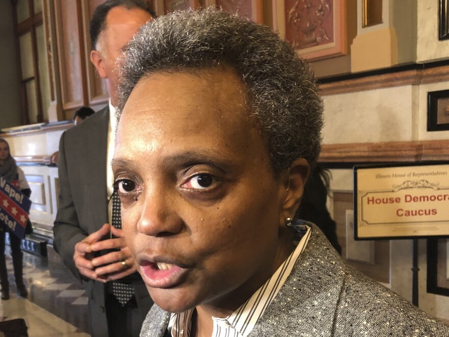"""Chicago Mayor Lori Lightfoot is urging potential witnesses of the shooting to come forward and assist police with the investigation. """"We can't normalize this kind of behavior,"""" she said."""