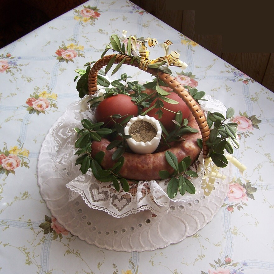In Polish tradition, kielbasa is taken to church on Holy Saturday to be blessed before the Easter meal