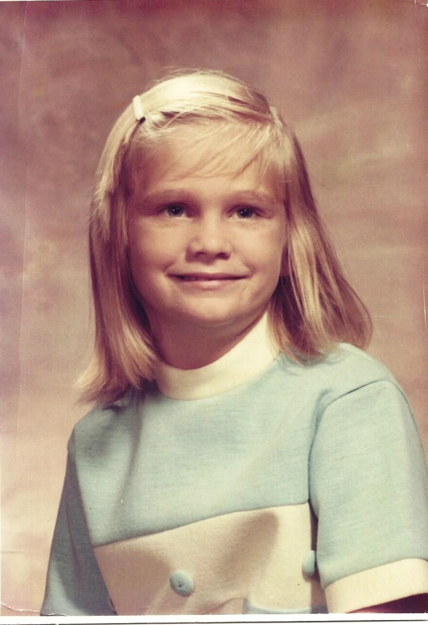 Melanie Barrier was 7 years old when this photo was taken.