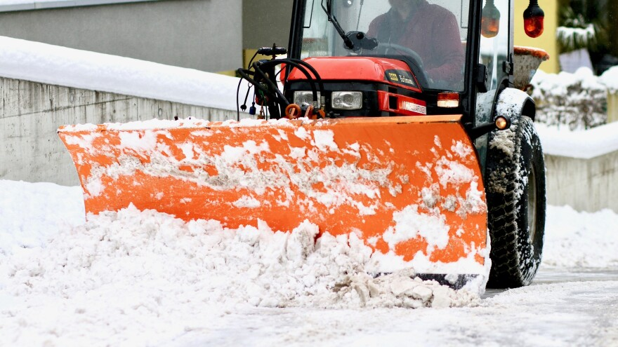 A picture of a snow plow.