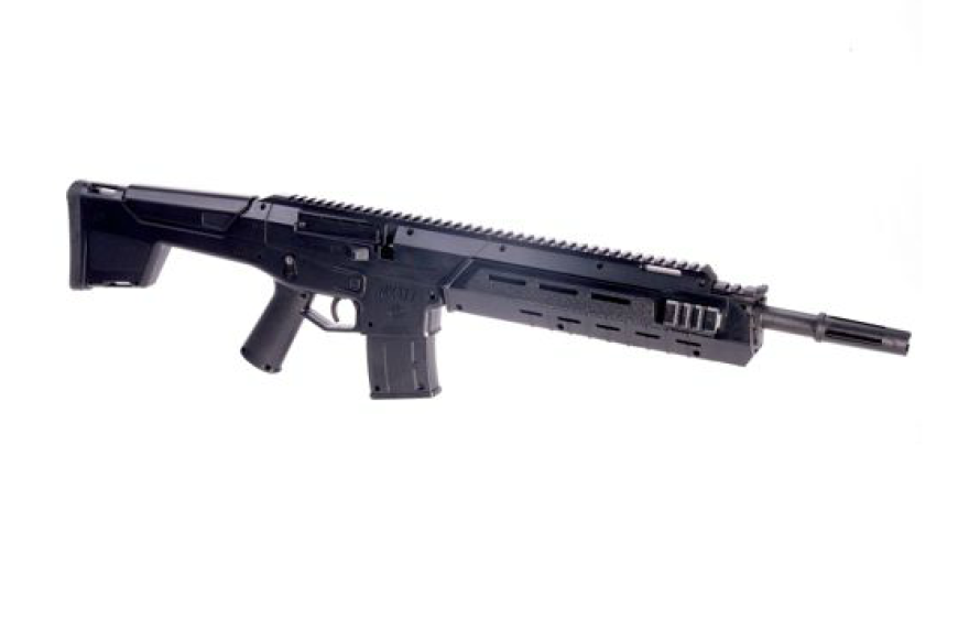"""A partial description of the Crosman MK-177 Tactical Air Rifle John Crawford picked up from a Wal-Mart shelf says the gun """"is useful for both target practice when perfecting your aim and for going after small game."""""""