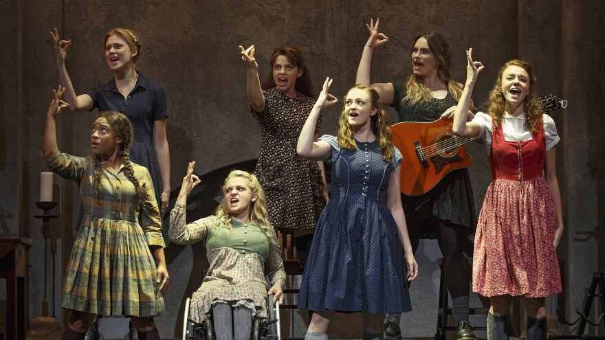 In the new Deaf West production of <em>Spring Awakening</em>, the deaf lead actors have doubles in the background who speak and sing for them, and everyone signs.