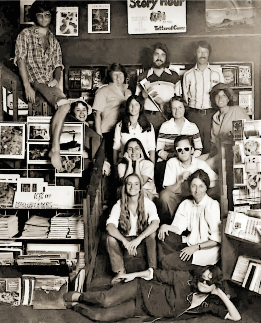 The original staff of the Tattered Cover bookstore in 1979. Years later, in the 1980s, (before he became an NPR correspondent) a teenage Scott Horsley worked as a Tattered Cover shipping clerk.